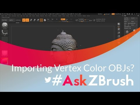 """#AskZBrush: """"How can I import in an OBJ file that contains vertex coloring?"""""""