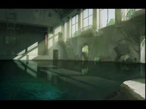 「水没した体育館」Submerged gymnasium