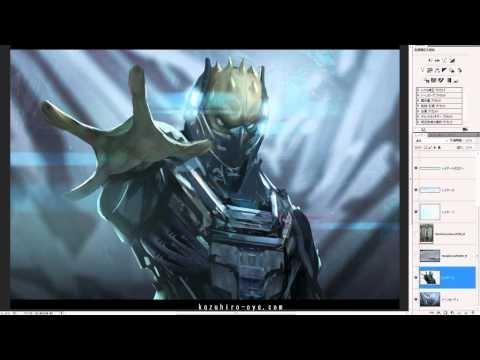 Sci-fi creature Speed Painting - Kazuhiro Oya