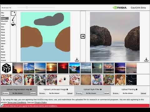 How to use NVIDIA GauGAN web demo app.