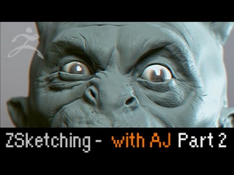 Zbrush Sketching: Crazy Demon with Anthony Jones (2 of 2)