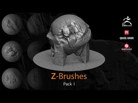 40 Zbrushes & alphas pack I