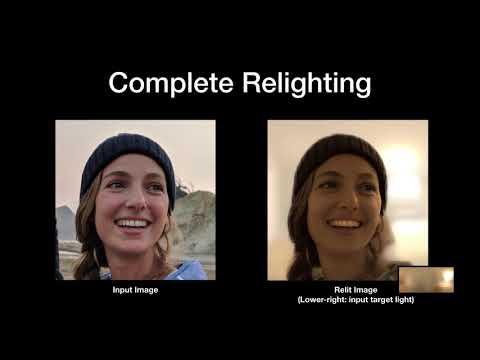 Single Image Portrait Relighting - SIGGRAPH 2019