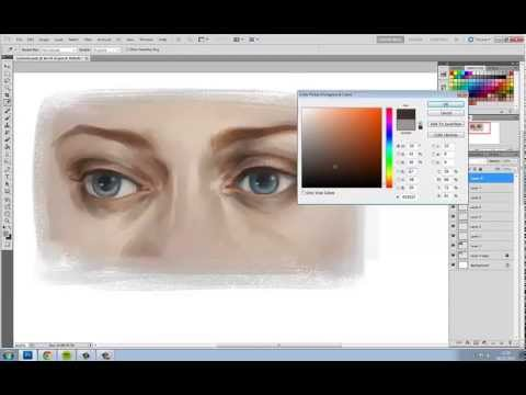 Charlie Bowater paints her eyes