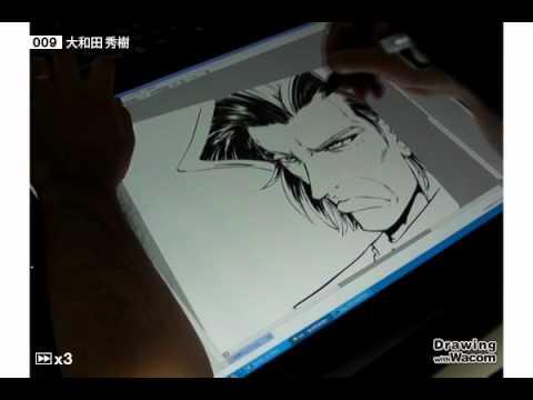 漫画家 大和田秀樹 - Drawing with Wacom (DwW)