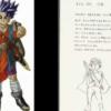 堀井雄二氏の描いたキャラクターのラフを鳥山明氏が完成させる