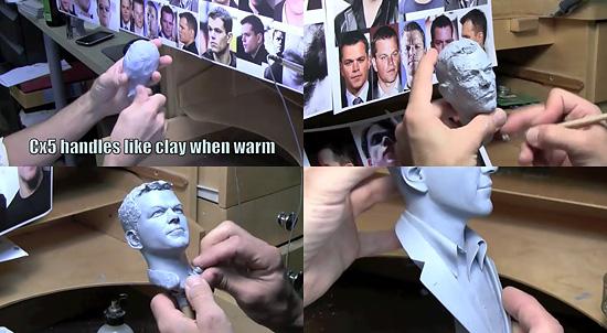 誰かが 俺を作った。俳優『マット・デイモン』を実際に粘土で作っていくムービー