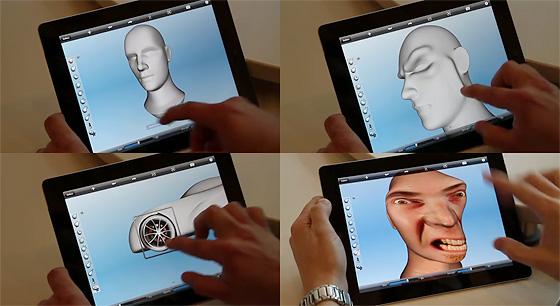 iPadで動作する、スカルプトツール。Autodesk『123D Sculpt』