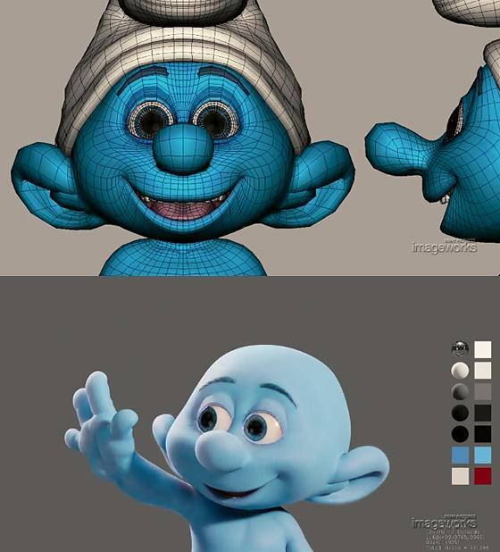 青い体の種族『スマーフ』が登場する映画のCGメイキング『Making of the Smurfs』