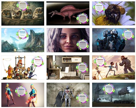 CGArena CGの2012年壁紙カレンダー無料ダウンロード中