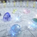 屈折あり。レンズブラーあり。宝石が綺麗に輝くDirectX11のデモソフト『RigidGems』