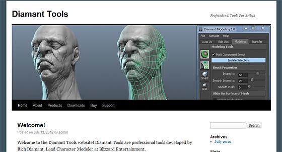 Mayaの有料モデリングツール『Diamant Tools』が1.0となって正式リリース