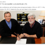 ディズニーがルーカスフィルム買収.スター・ウォーズ7に着手