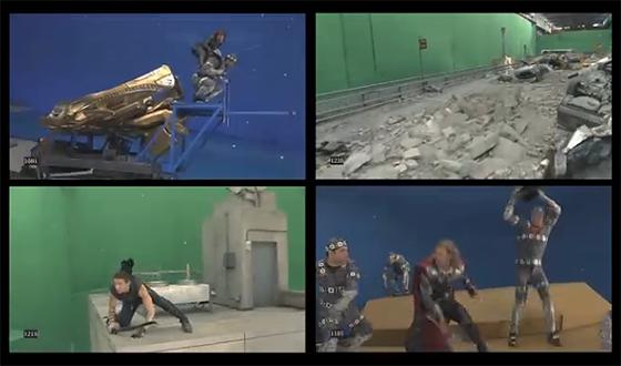 ILMによるAvengersのメイキング動画