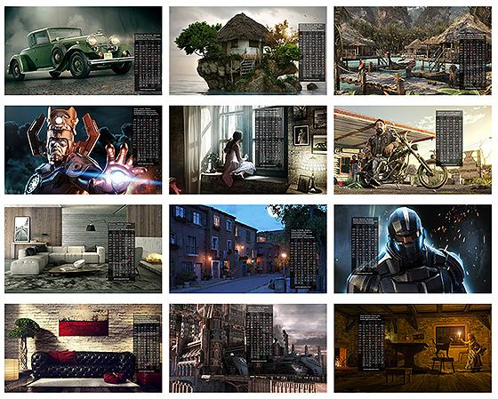 CGArena CGの2013年壁紙カレンダー無料ダウンロード中