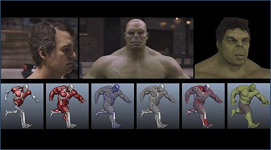 ILMによるAvengersのメイキング動画 Part2
