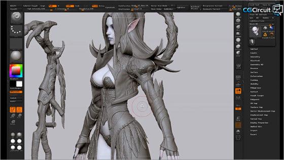 それでも1.5時間!Zbrushによるキャラモデリングチュートリアル、チラ見動画『3D Character Art for Games』
