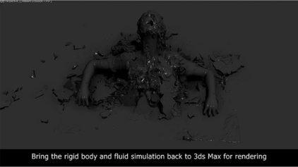 【若干閲覧注意】RealFlowを使った『ドラゴン・タトゥーの女』VFXメイキング動画