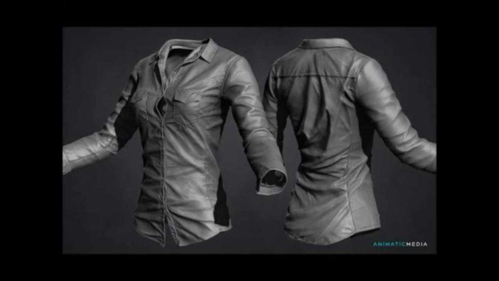 リアルなワイシャツを作るチュートリアル動画。Marvlous DesignerとZBrushを使用