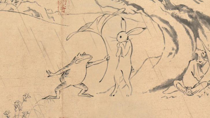 か、かわいい…。スタジオジブリが『鳥獣戯画』をアニメ化!丸紅新電力のCMにて