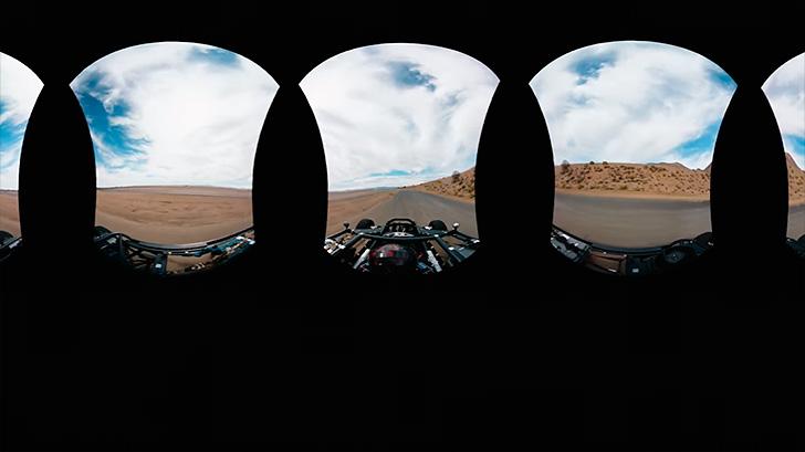 車両の走行時にHDRIも動画で撮影
