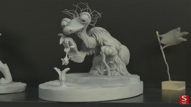 粘土によるキャラクターのマケット