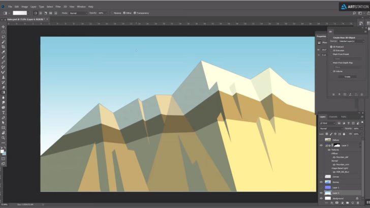 Normal Map をPhotoshopを使って手描きする方法