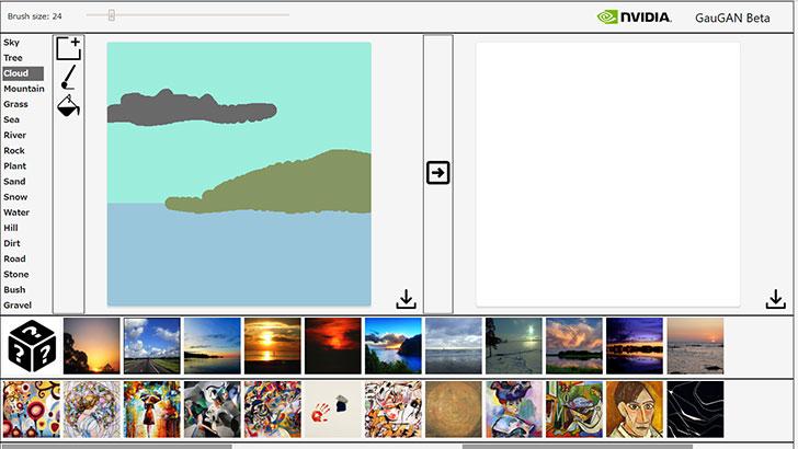 NVIDIA GauGAN。AIを使った風景画を試し描き出来るぞー! | CGトラッキング