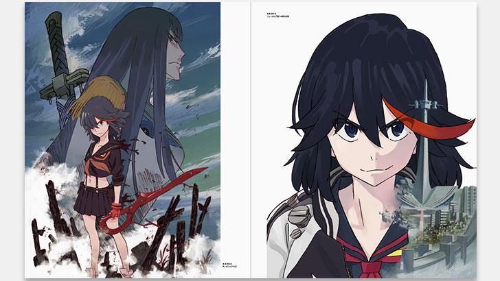 画集『SUSHIO THE IDOL』。アニメーターすしお氏の画集『キルラキル』『グレンラガン』等。