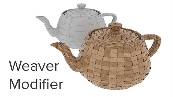 Weaver Modifier 3dsMax。編み物のCGモデルがサクッと作れちゃう3dsMax用ツール