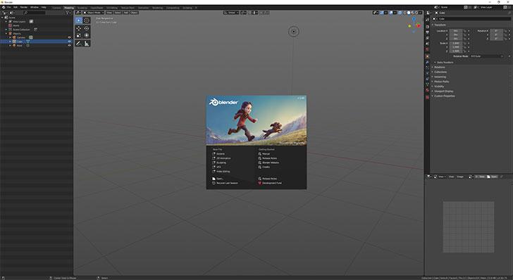 Blender起動画面