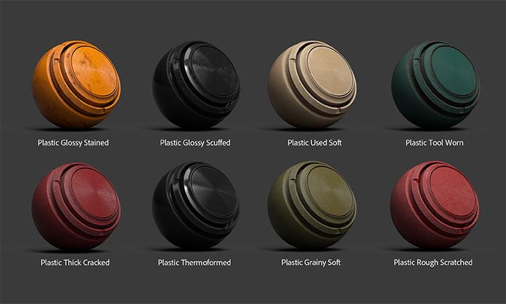 Substance Painter 2019.2で追加されたプラスチック、ゴムマテリアル