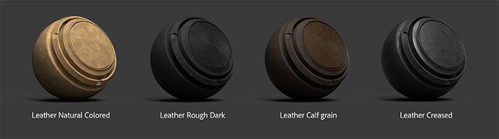 Substance Painter 2019.2で追加された革マテリアル