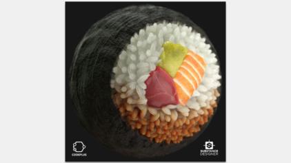 SubstanceDesignerで作られた寿司。販売中