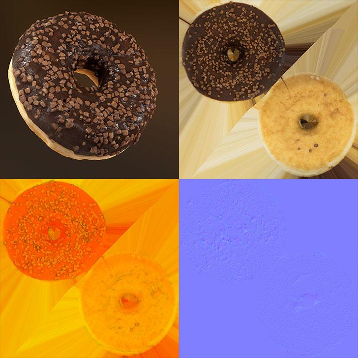 チョコレートドーナツのテクスチャー