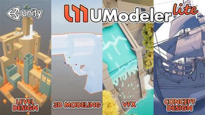 UModeler Lite。Unity用の無料3Dモデリングツール